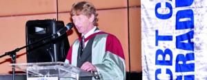 Dr. Professor. Paul Watson, Sheffiled Hallam University – UK, addressing the Dubai graduation ceremony