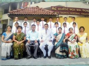 The Students who got through the Grade 5 Scholarship Examination, 2012