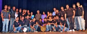 Winners of Theater Fest 2012-Royal College with Mrs. Kumari Hapugalle Perera, CEO/MD of Alethea International School, Mrs. Premila Paulraj, Asst. Vice President for Edexcel India Subcontinent & Mr. Ajith Abeysekera, Chairman of Aspirations Education