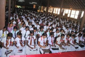 """Group of students at """"Sisunena"""" seminar conducted by Mr. B Kiriwaran"""