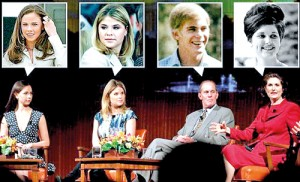 Growing up in the White House: (From left to right) Barbara Pierce Bush, Jenna Bush Hager, Steve Ford and Lynda Johnson Robb