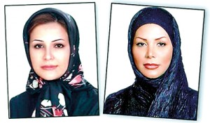Neda Soltani (left) and Neda Agha-Soltan (right)