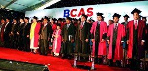 Head Table Members and the Academic Staff at BCAS Convocation 2012