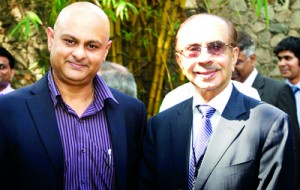 Seen here is BBDO Lanka MD Santosh Menon with CII President Adi Godrej.