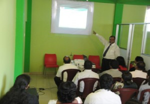Conducting an awareness programme  for some of the participants