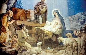 Traditional: This depiction of the Nativity is mirrored in homes and churches all over the world at Christmas but the Pope says that it should not include a single animal