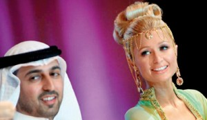 Paris Hilton, pictured in Dubai in 2009, has just opened one of her handbags and accessories stores in Mecca