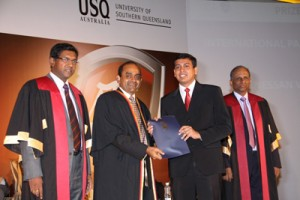 Recipient of the USQ Australia International Partner Prize  - Denessan Vaikunthavasan