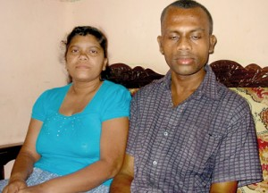 Sarath on the road to recovery along with his wife Sandamali. Pic by Shane Seneviratne