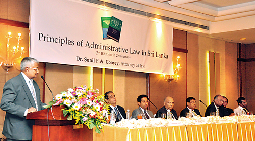 Launch of  'The Principles  of Administrative Law in  Sri Lanka' 3rd edition