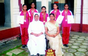 Sacred Heart Convent Galle gymnastic champs