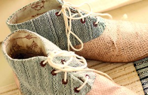 Fish skin shoes by Jenny