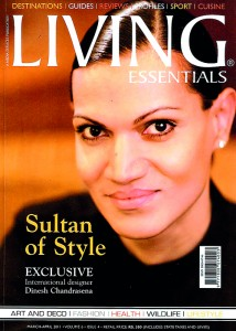 Dinesh Chandrasena featured in Living magazine.
