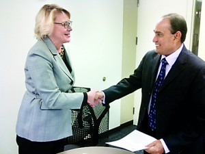 Sheri Noren Everts --�Vice President for Academic Affairs and Provost-�- Illinois State University & Professor Lalith Gamage