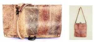 Fish skin bags by Jenny