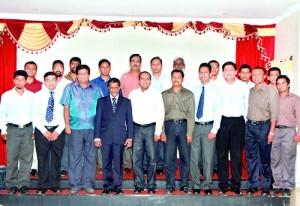 First row left to right: Eng. Chamila Sampath, Eng. N. P. Jayathilake, Eng. S. N. B. M.  Padmasiri (Chairman), Eng. Tilak De Silva (President), Eng. T. M. S. S. D. Tennakoon (Secretary), Eng. R. M. Munasinghe, Eng. T. M. S. P. Tennakoon, Eng. SisilKarunananda, .DammikaChandrathilake, , Eng. AmilaLakmal, Second row left to right: Eng. Shaminda Sumanasekara, Eng. A. P. Rubasinghe, Eng. Chanaka Samudralal, Eng. NalinPerera, Eng. Henry Dissanayake, Eng. ManojPriyanga, Eng. Kamal De Silva, Eng. Thushra Dissanayake, Eng. K. A. G. S. Sisiwath, Eng Eng. Amila Amunugama
