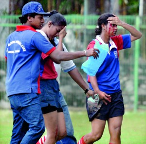 Rugby is a game the chances of a player getting  injured is great.  Therefore player safety plays a great role. - File Pic