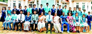 Seated (from left): Ashan Ratnayake, Gyrika Aluthge (Captain), David Hawks (TIC), Sasini Senaratne (Coach), Jithma Perera (Head Coach), Anusuya Philips (Deputy Principal), Nikitha Grero (Director), P. Prakashpathy (Principal), Sameera Pathum (Sport Coordinator), Nirmaline Perera (TIC), Maneesha Lakmali (Captain), TImasha Fernando.Standing (from left): Pankajani Vihara, Sandamini Senanayake, Rakshana Jayasekara, Haridha Mohan Raj, Abhishek Nelson, Ryan Abeygoonasekara, Sasanka Aluthge, Keuse Lawrence, Kevin Stelon, Heshara Aluthge, Devaprashanth Periyasamy, Nadun Shanaka, Anne Nirushala, Vimansha Shamini, Sanjalee Nimanthi, Ronal Abeygoonasekara, Bonnie Franklin.