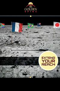 A promotional poster for the scheme,to send a country into space for $1.5bn
