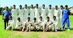 The Under 15 team of Vijayaba National School Hungama