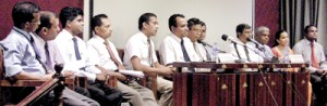 The panel of medical experts. Pic by Athula Devapriya