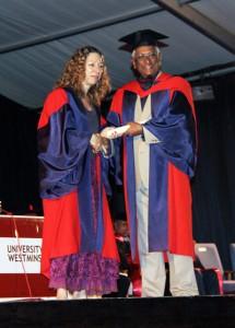 Mr. Wickramasinghe receiving his honours