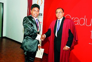 Kasun Anuradha was awarded the Special Award 2012 for Extracurricular Events