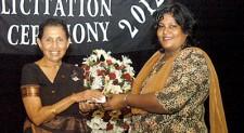 Felicitating past teachers of St.Joseph's Girls School, Nugegoda