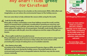 Buy Smart – think 'green' for Christmas!