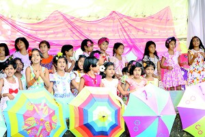 A colourful event by the kids
