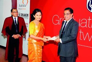 Mr. Eastman Narangoda Former Chairman Seylan Bank presenting awards