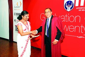 Piumi Dinusha was awarded the Most Outstanding Student-Biotechnology 2012