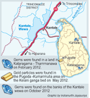 Land near Kantale tank to be auctioned for gem mining