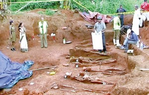 More skeletons are being unearthed: The mystery gets deeper and deeper. Pix by Mahesh Keerthiratne