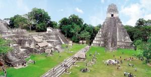 Mayan ruins at Tikal, Guatemala (Chen Siyuan/Wikimedia Commons)