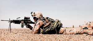 A US marine in action: In 18 years, there will not be any hegemonic power in the world. Pic courtesy marines.com