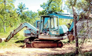 Destructive: Heavy machinery is used for digging up the soil