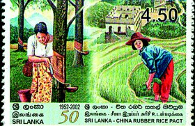 When rice was bartered for rubber between Ceylon and China