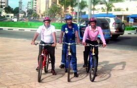 Spreading the gospel on bicycles made for three