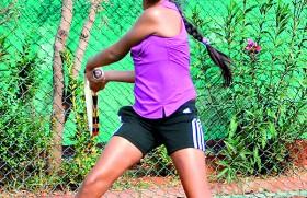 Tanysha smashing her way up UK tennis ladder