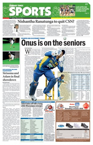 Sports Front Page