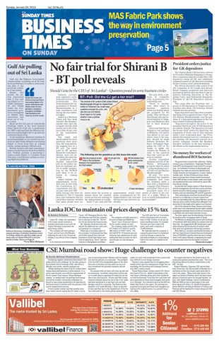 ST Business Times Front Page