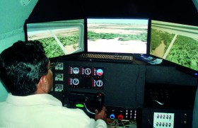 Experience a Flight Simulator at the 'Aviator' Stand at EDEX 2013
