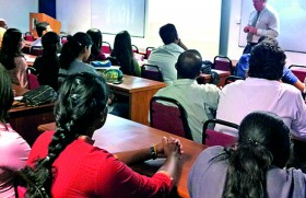 Acting Dean of Asia Pacific University delivers a guest  lecture at APIIT