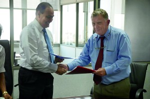 SLIIT President and CEO Professor Lalith Gamage and Professor Michael Burns