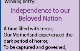 Independence to our Beloved Nation
