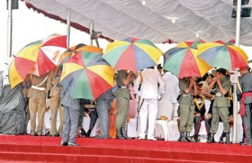 Amidst grey skies, President stresses on importance of celebrations in Trincomalee