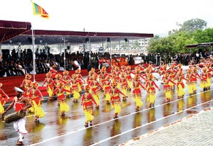 Scene from this year's Independence Day celebrations that were held in Trincomalee