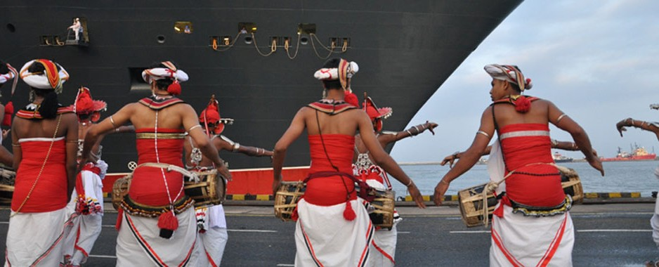 World's largest luxury passenger liner calls over at Colombo Port