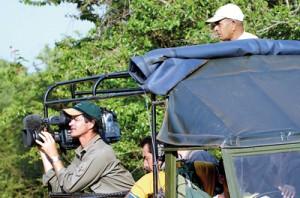 A film crew in the Yala National Park. Pic by Gehan de Silva Wijeyeratne